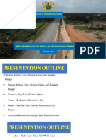 Presentation on rehabilitation work  on the Achimota-Nsawam railway