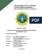 Plan de i Curso de Actualizacion en Ingenieria Topografica y Agrimensura 2019
