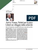 Arriva Yunus, Nobel per la pace - Il Resto del Carlino dell'8 maggio 2019