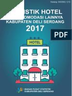 Statistik Hotel Dan Akomodasi Lainnya Kabupaten Deli Serdang 2017