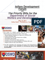 Presentation on Priority Legislation of the DSWD