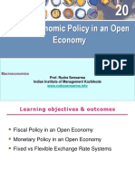 Macroeconomic Policy in an Open Economy - 20