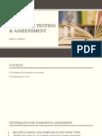 Langguage testing and Assessment