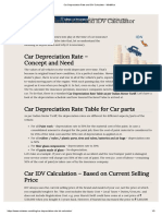 Car Depreciation Rate and IDV Calculator - MintWise