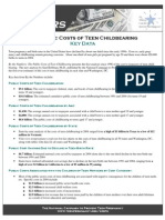 By The Numbers-Public Cost of Teen Childbearing
