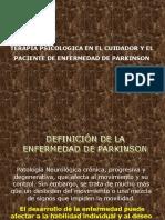 Terapia Psicológica en El Cuidador y El Paciente de Parkinson