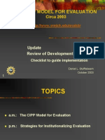 CIPP Model for Evaluation