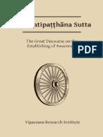 Mahasatipatthana Sutta eBook
