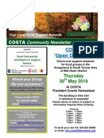 COSTA Newsletter - May 2019