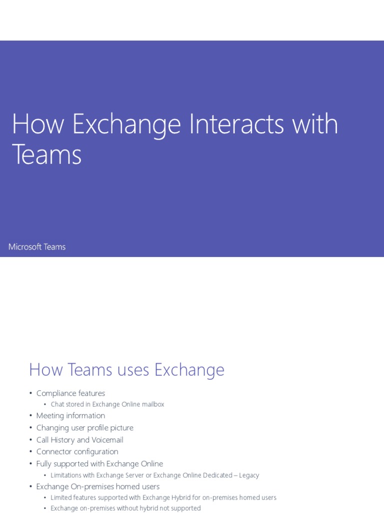3 - How Exchange Interacts With Teams | Microsoft Exchange