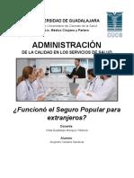 ADMINISTRACIÓN - Ensayo Seguro Popular - Alejandro Ceballos
