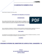 to Interno Maga ACUERDO GUBERNATIVO 278-98-0