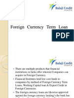 Foreign Currency Term Loan