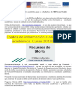 Recursos de información académica, orientación e titoria
