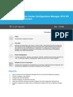 Programme Microsoft System Center Configuration Manager 2012 R2 (SCCM) - Déploiement (1)