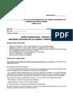 Examen Grado Superior Parte Especifica Opcion C Ciencias de La Tierra y Medioambientales (2)