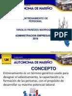 ENTRENAMIENTO PERSONAL DESPUÉS DEL PROCESO DE RECLUTAMIENTO ,SELECCIÓN Y CONTRATACIÓN