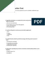 Dietitian Practice Test