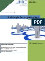 Cours Sociologie Des Organisations (1)