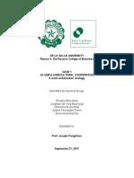 Strategic Management Paper (Sample)