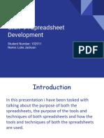 unit 9 spreadsheet development assignment 1 - luke jackson