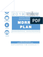 Municipal Disaster Risk Reduction Management Plan