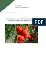 Proyecto de Salsa de Tomate