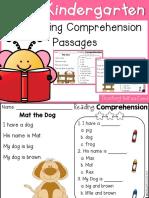 Free Kindergarten Reading Comprehension