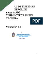 MANUAL DE SISTEMAS DE CONTROL DE PRESTAMO Y DEVOLUCION DE LIBROS