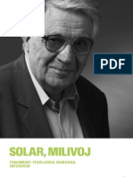 milivoj solar - fragmenti teorijeskog diskursa - interview