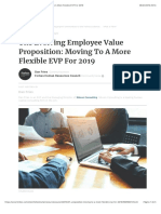 The Evolving Employee Value Proposition
