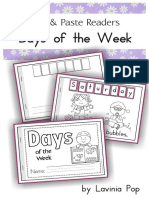 Days of the Week Cut Paste Reader Free