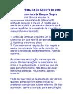 CHOPRA MEDITAÃO