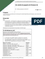 165251 - ControlLogix_ Historial de Revisión de Paquetes de Firmware de Redundancia
