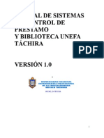 MANUAL DE SISTEMAS DE CONTROL DE PRESTAMO Y DEVOLUCION DE LIBROS WEB
