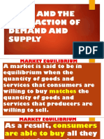 Price and the Interaction of Demand and Supply
