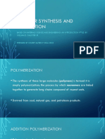 Polymer Synthesis and Fabrication Report