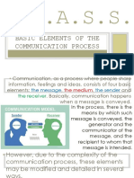 Basic Elements of the Communication Process