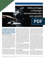 Políticas de Drogas e a Psicologia- Desconstruindo Mitos Para a Garantia de Direitos