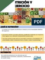 Nutrición y Ejercicios