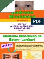 Síndrome Miasténico Seminario de Fisiologia