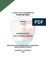 Plan de area