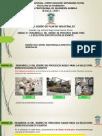 Diseño Plantas Unidad 01 1.2 SelecciónEspecificaciónEquipos