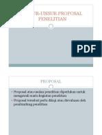 4. Unsur2 Proposal Penelitian