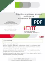 Requisitos e regras de acesso à profissão de examinador.pdf