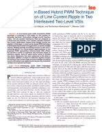 2018 a Novel Carrier-Based Hybrid PWM Technique for Minimization of Line Current Ripple in Two Parallel Interleaved Two-Level VSIs