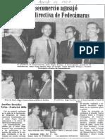 Consecomercio Agasajo a Nueva Directiva de Fedecamaras - Diario 2001 15.09.1987