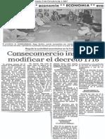 Consecomercio Insiste en Modificar El Decreto 1716 - Diario Panorama 03.10.1987