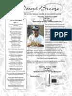 September 2007 Desert Breeze Newsletter, Tucson Cactus & Succulent Society