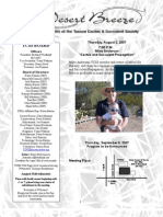 August 2007 Desert Breeze Newsletter, Tucson Cactus & Succulent Society